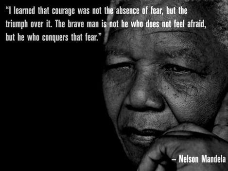 nelson mandela courage quote