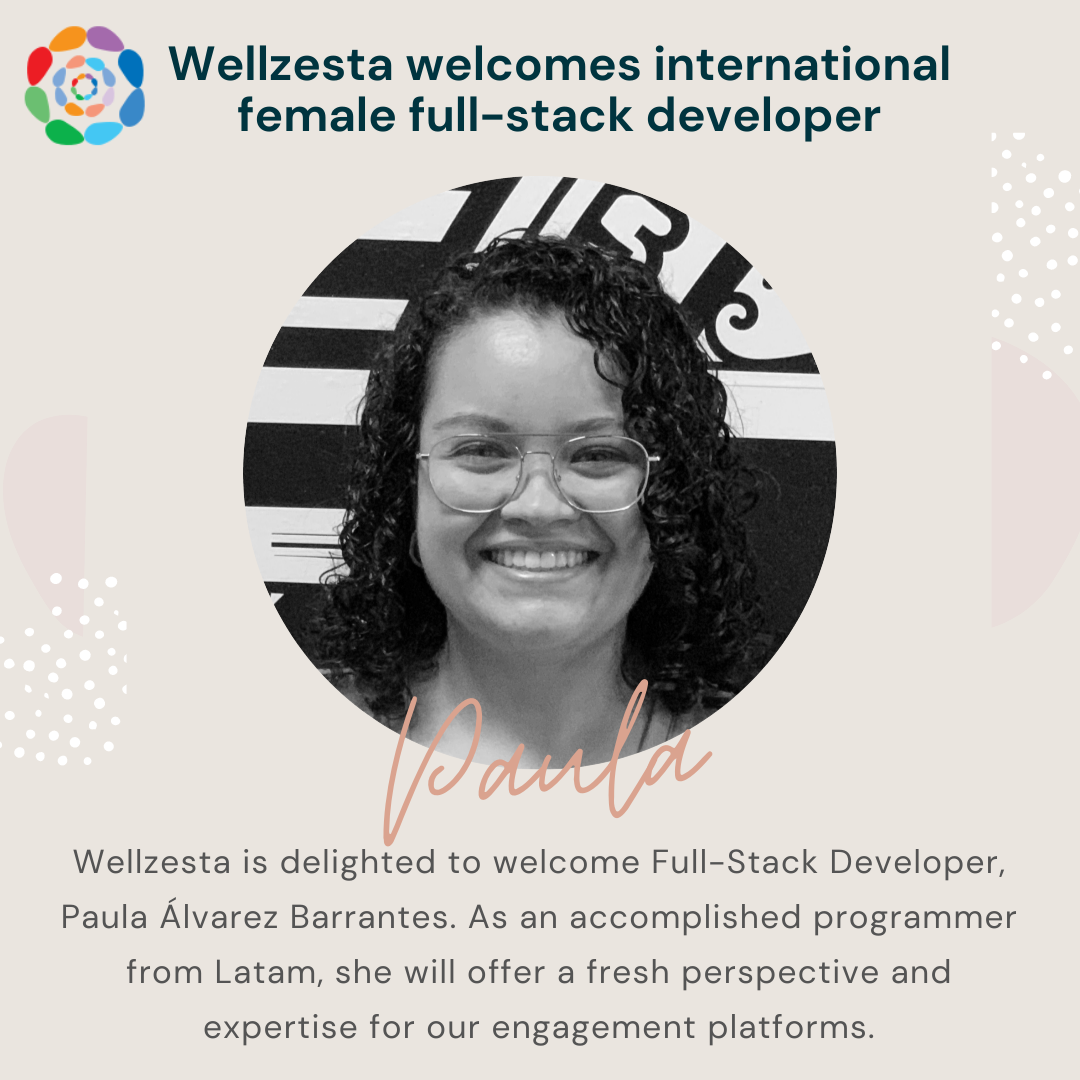 new female full stack developer at Wellzesta